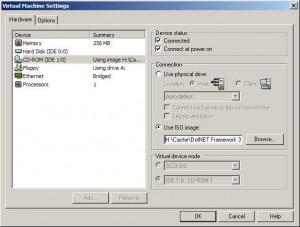 Impostazioni CD-ROM con immagine iso