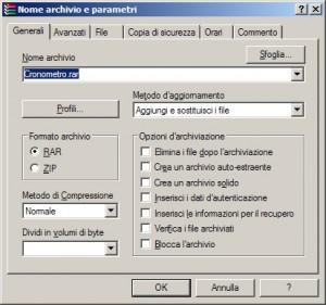 Creazione archivio criptato